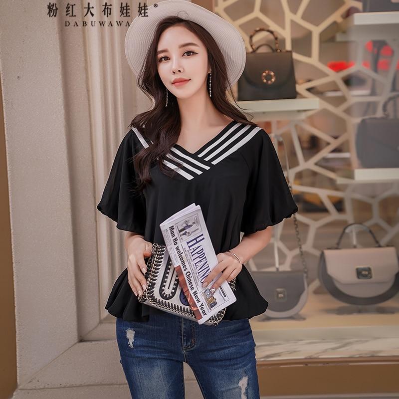 original new 2018 brand blusa feminina plus size befree fashion rib v-neck kimono casual summer style women's blouse wholesale платье befree befree be031ewylt69