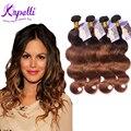 Malaio Ombre Cabelo Virgem Malaio Onda Do Corpo tecer ombre extensões de cabelo 4 Bundles ombre cabelo humano estilo rosa produtos para o cabelo