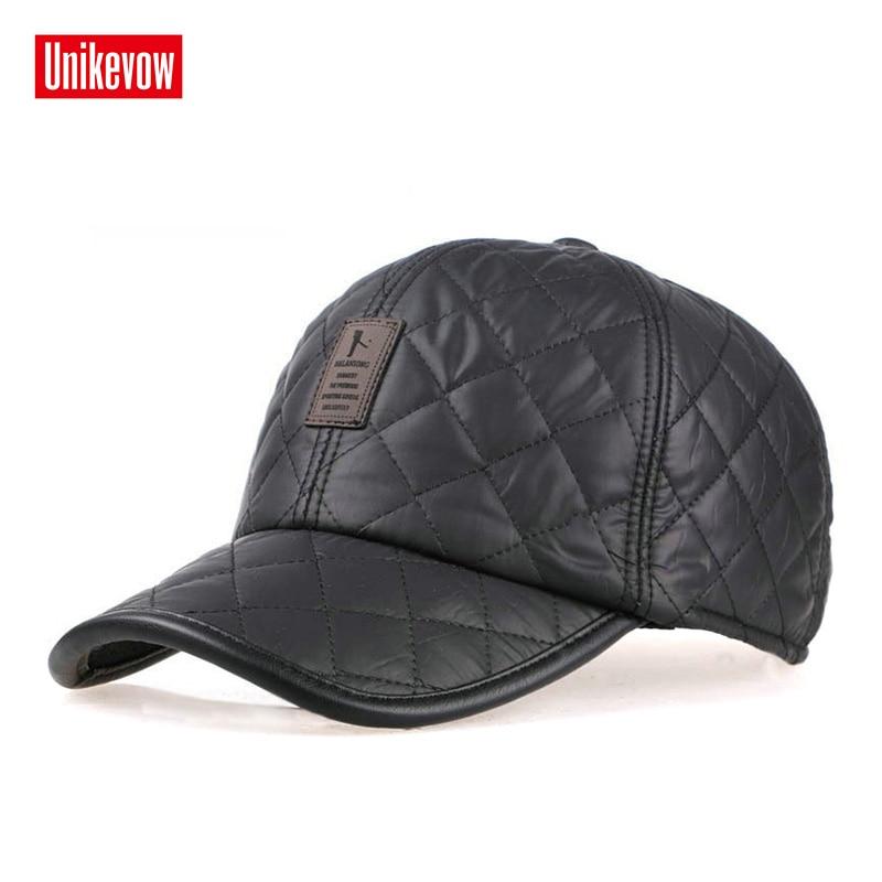 2018 Unisex   baseball     caps   with ears motorcycle   cap   golf hat waterproof casual winter hat warm   caps   for men