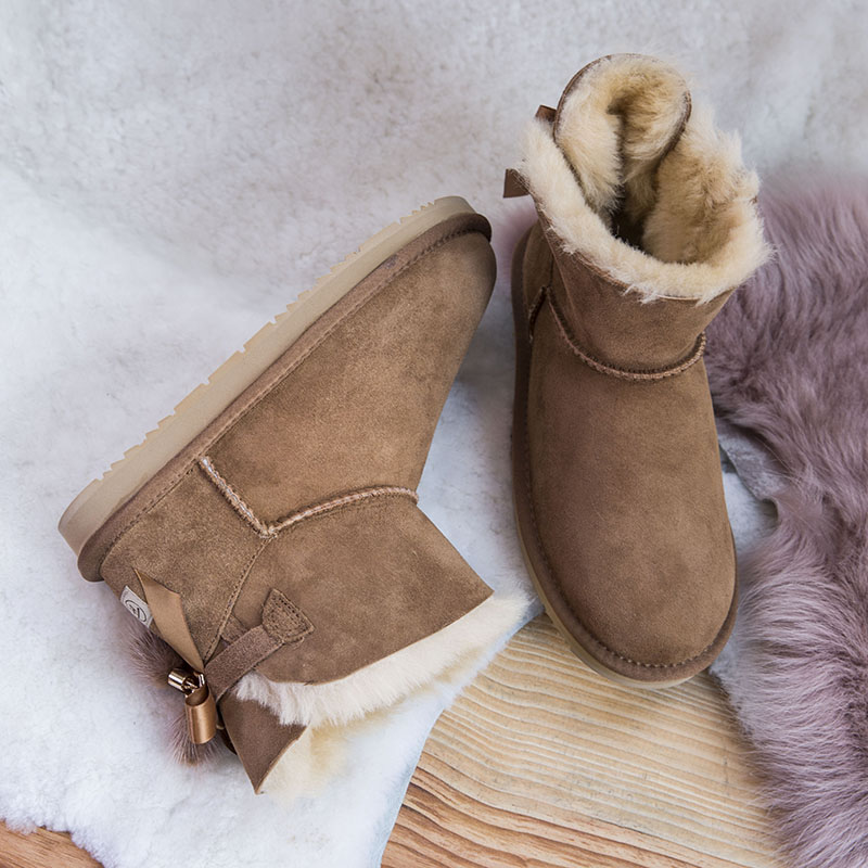 Zapatos Gris amarillo Caliente Felpa Invierno Clásico Vuggdbv Tobillo La Calientes Mujer rosado 2018 Botas Mujeres De Nieve Las marfil Plantillas Piel Oscuro 1qqwcZpTv