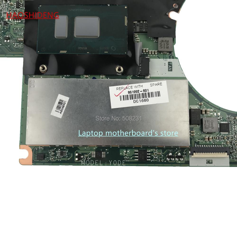 HAOSHIDENG 861992-601 DAY0DEMBAB0 mainboard for HP Spectre x360 13-4000 13-4172na Motherboard with i7-6500U 8GB, fully Tested