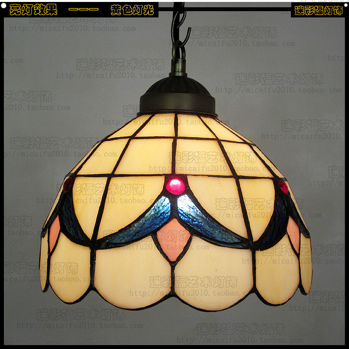 14inch Tiffany Baroque Stained Glass Suspended Luminaire E27 110 240V Chain Pendant lights for Home Parlor Dining Room - 4
