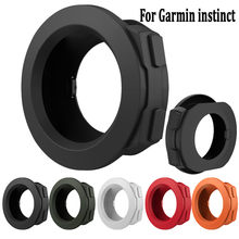 Para Garmin instinto Protetor de Silicone Tampa Do Caso Do Quadro Bumper Shell dispositivos wearable smartwatch relógio inteligente(China)