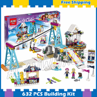 591pcs Friends Snow Resort Ski Lift Trail map stand 10732 Model Building Blocks Girls Children Gifts sets Compatible With lego