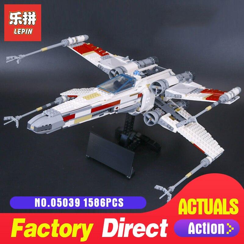 Lepin 05039 Star destroyer Starfighter mode building kits blocks aircraft Bricks DIY toys for boys LegoINGlys 10240 Wars