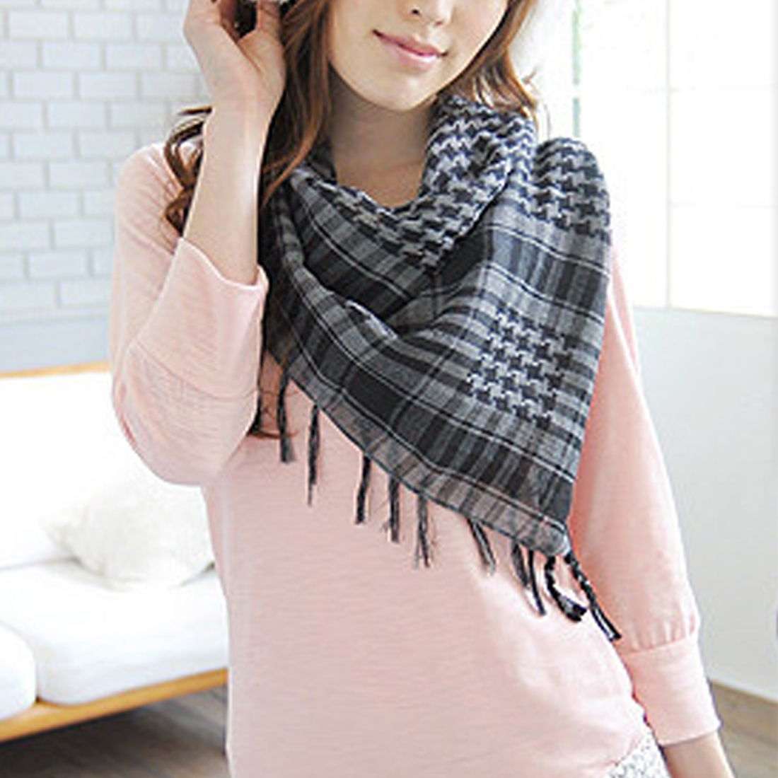 New Arab Military Tactical Scarf Hijab Shawl Kafiya Wrap Hot Grid Scarves For Female Male Gifts Fringed Houndstooth Square Scarf in Women 39 s Scarves from Apparel Accessories