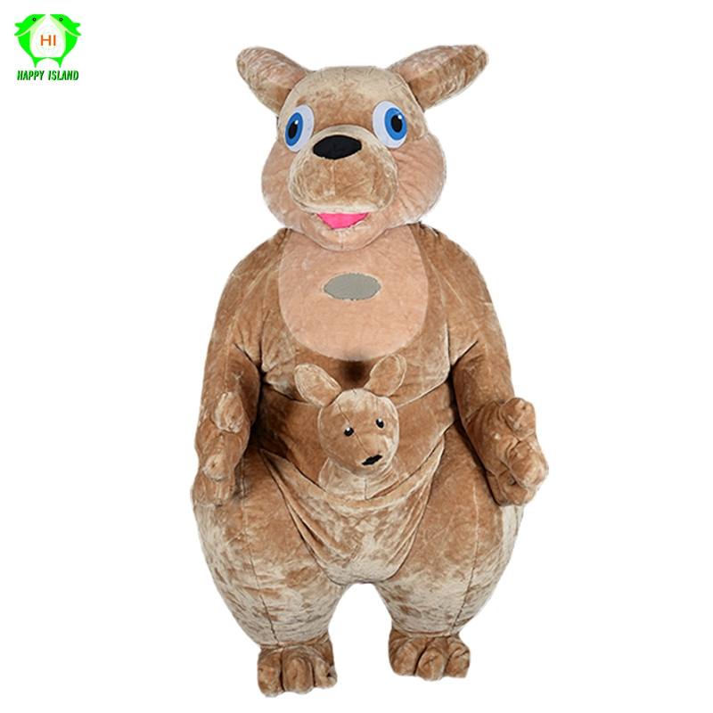 New Arrival 2.6M Cartoon Kangaroo Plush Inflatable Mascot Costumes for Adult Advertising Customized Festival Cosplay Costumes