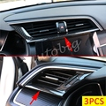 Carbon Fiber Dashboard Air Vent Cover For Honda Civic 10th 2016 2017 Interior Caution Light Switch Trims