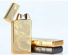 Юнан тонкий 11 мм крест двойной Arc Авто-прикуриватели USB ветрозащитный электронные Авто-прикуриватели Для мужчин дым подарок-8008