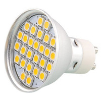 10pcs GU10 5 5W 27x5050 SMD LED Spotlights Warm White