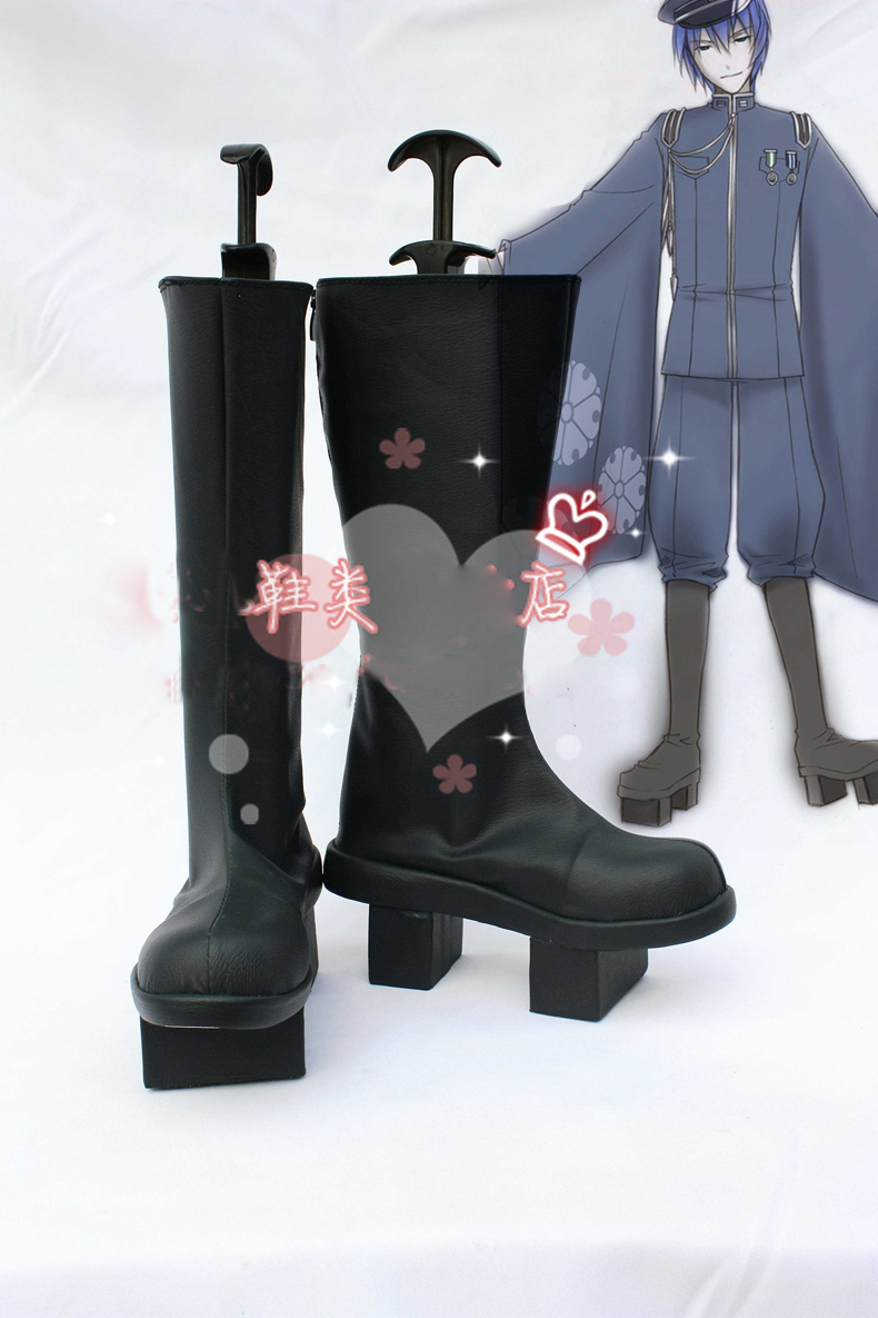 Anime VOCALOID KAITO Senbonzakura Boots Cosplay costume shoes Custom Made Halloween Free Shipping