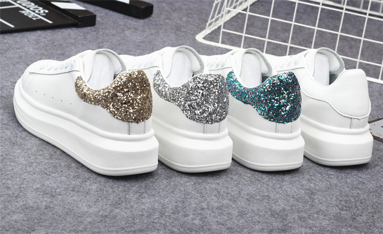 New Fashion Vulcanize Shoes Trainers Women Sneakers Casual Shoes Basket Femme PU Leather Tenis Feminino Zapatos Mujer Plataforma 80