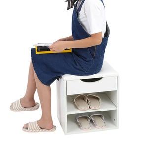 Image 5 - ホーム靴ラック木製靴収納オーガナイザーホルダーキャビネットパッド入りシートリビングルーム家具の靴キャビネット
