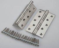 5 '' X 5 '' X 3 mm aço inoxidável escova de níquel portas dobradiças Heavy Duty dobradiças nova