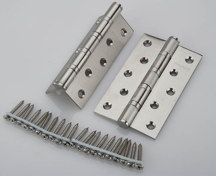 5''X5''X3mm Stainless Steel Brush Nickel Door Hinges Heavy Duty Hinges New 1 pair viborg sus304 stainless steel heavy duty self closing invisible spring closer door hinge invisible hinges jv4 gs58b