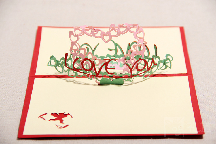 Aliexpress Buy valentines day love you heart 3d pop up – Valentines Day Post Cards
