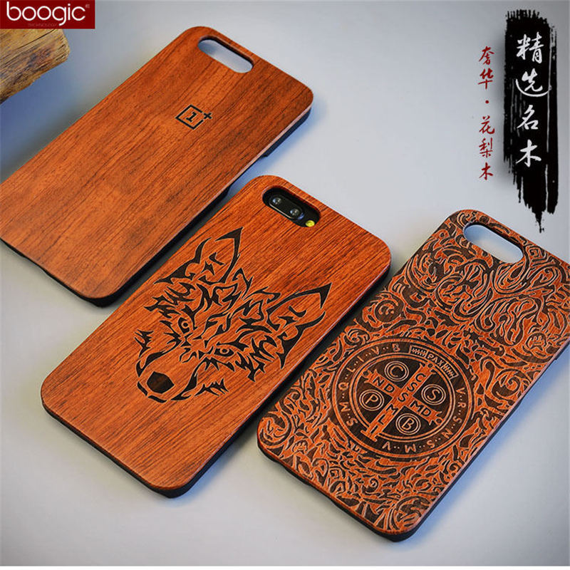 Unique OnePlus 5 A5000 Slim Bamboo Wood PC Back Cover Case For Oneplus Five One plus 5 Phone Cases