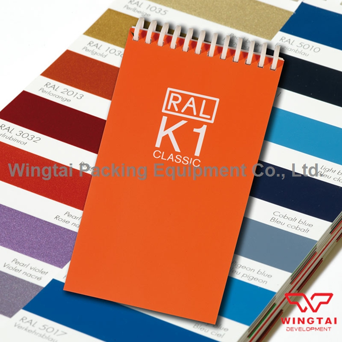 RAL K1 210 Kinds Colors For Paint Coating Classic Color Swatches 5.2x1.5cm Color Chipes ral k7 paint color page chip card brochure
