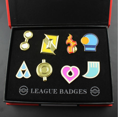 8Pcs/Lot Cartoon Anime Pokemon Pocket League SET Badges Pokemon Pocket Monsters Alloy Brooch Pin Badge Collectibles Brooches