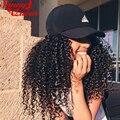 360 de Encaje Frontal Peluca 8A Malasio Rizado Rizado Del Frente Del Cordón Humano Pelucas de cabello Pre Arrancó Llena Del Cordón Del Pelo Humano Pelucas Para Negro mujeres