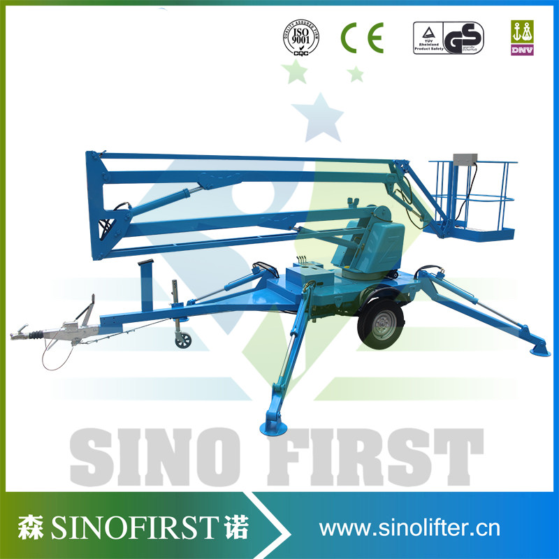 16m Light Weight Towable Trailded Bucket Lift