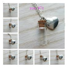 1PCS Memorial Necklace family member, Urn Vial Necklace for Ashes, Cremation Jewelry(China)