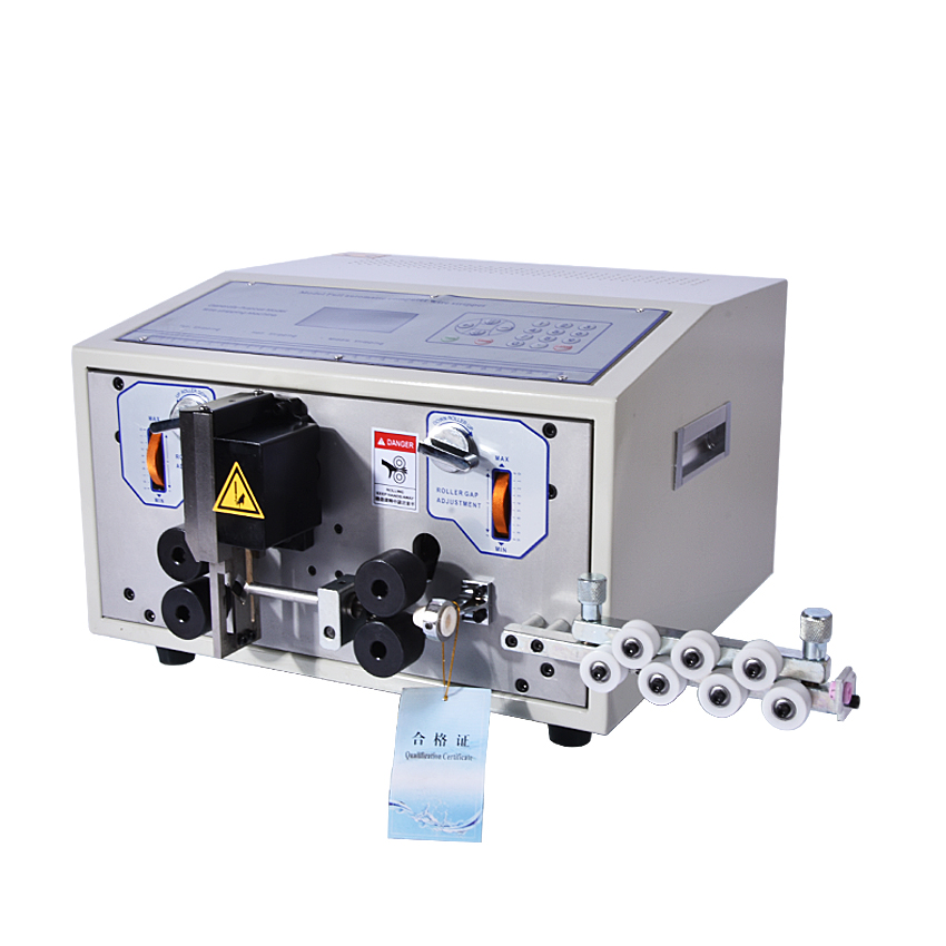 SWT508-JE Computer Automatic Wire Stripping Machine, 110V/220V Wire Cutting Machine, stripping machine LCD Display  1PC swt508c ii automatic wire stripping machine led fast speed stripping wire cutting machineac 110v 60hz 220v 50hz 100w 70 1 2 5mm