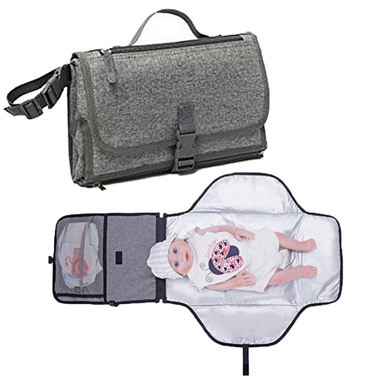 New Baby Portable Changing Pad Diaper Bag Travel Changing Mat Station Soft Flexible Travel Mat Baby