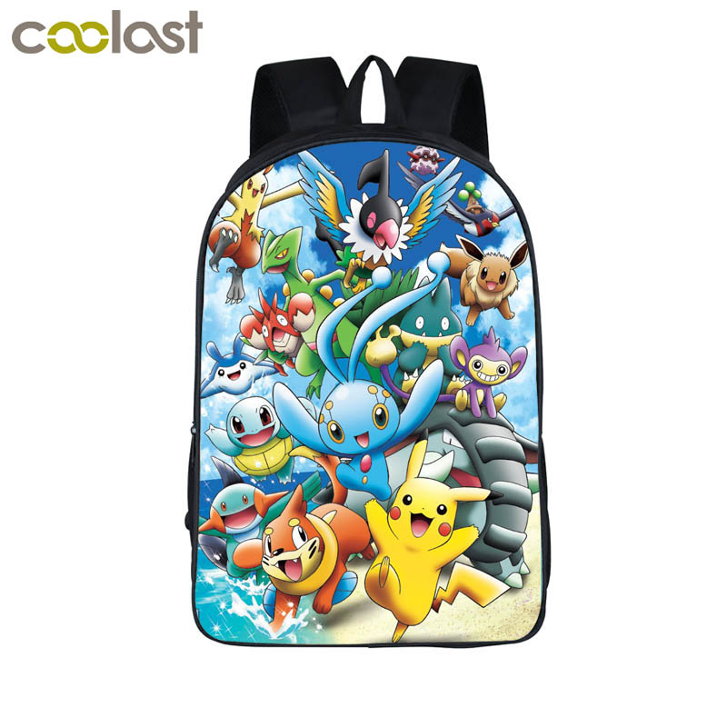 Anime Pokemon font b Backpack b font Boys Girls School Bags Children Pikachu font b Backpack