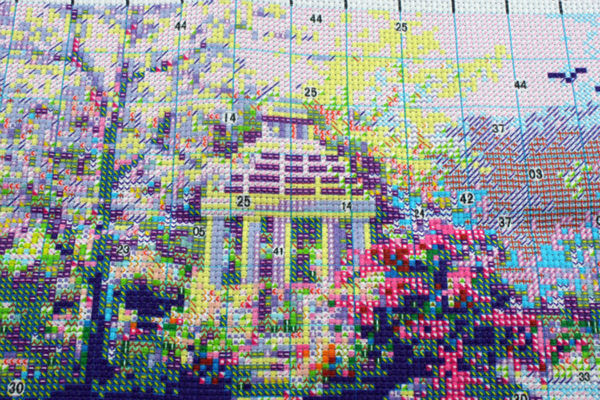 DIY DMC Home Decoration Cross-Stitching Handmade Needlework Cross Stitch Kit Precise Printed Garden Cottage Design wholesale