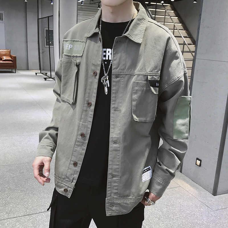 Мужская куртка, пальто, модная весенняя Мужская одежда, спортивная одежда, пальто с длинными рукавами, верхняя одежда, оснастка, ветрозащитная камуфляжная куртка 3XL