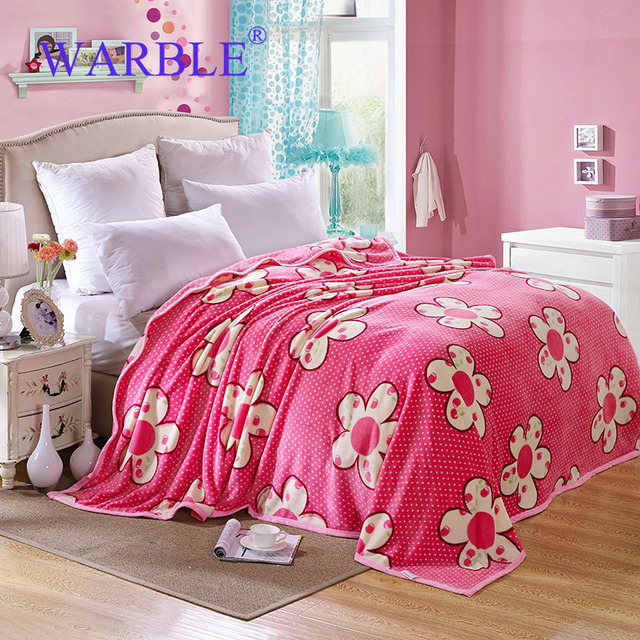 WARBLE Multi Colored Throw Blanket Coral Fleece Pink Flowers Blanket Beauteous Coral Colored Throw Blanket
