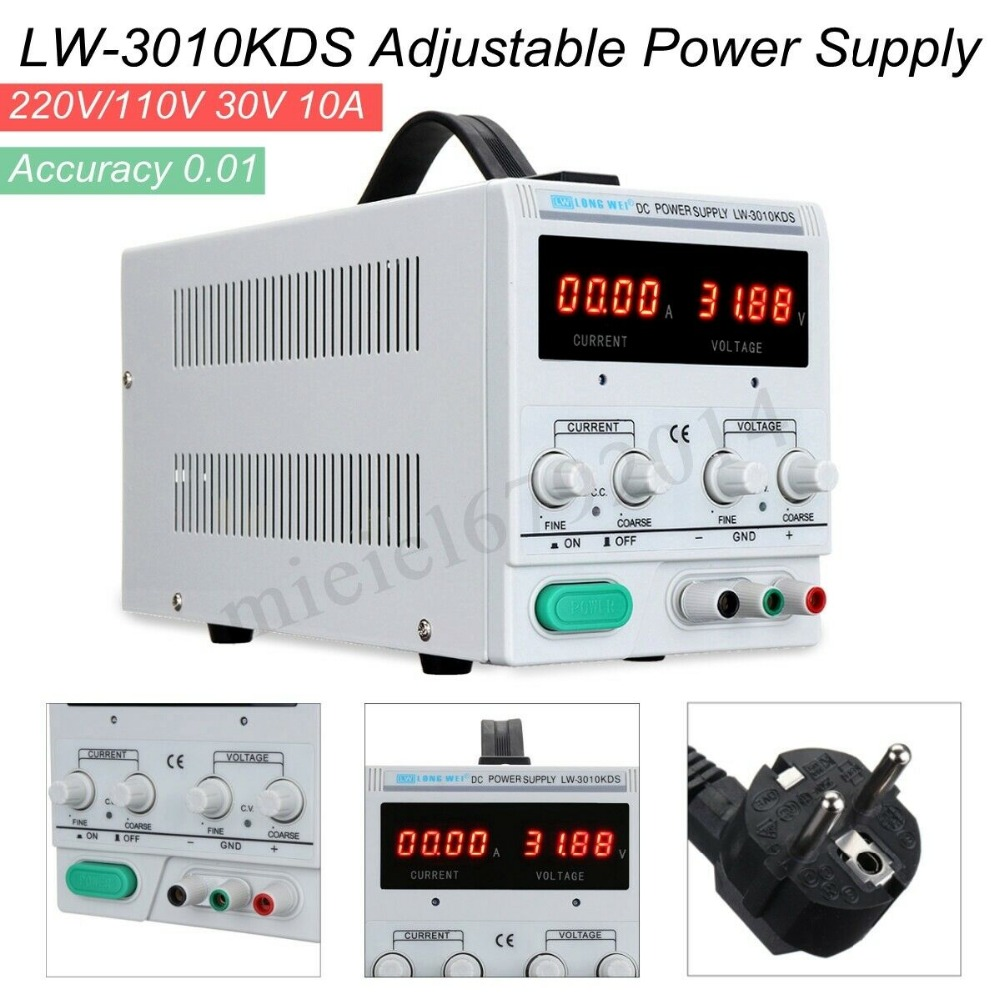 LW-3010KDS Power Supply 30V 10A Adjustable DC Power Supply Precision Variable Digital Lab TestLW-3010KDS Power Supply 30V 10A Adjustable DC Power Supply Precision Variable Digital Lab Test