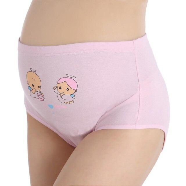 a2c7d1588918f Pregnant Panties High Waist Mother Belly Support Cotton Underwear Cartoon  Postpartum Briefs Pregnancy Short Pants
