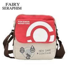 FAIRY SERAPHIM anime Pokemon Messenger Bag Cartoon Character crossbody style Boys Girls Schoolbags Children Bookbag monster Bags