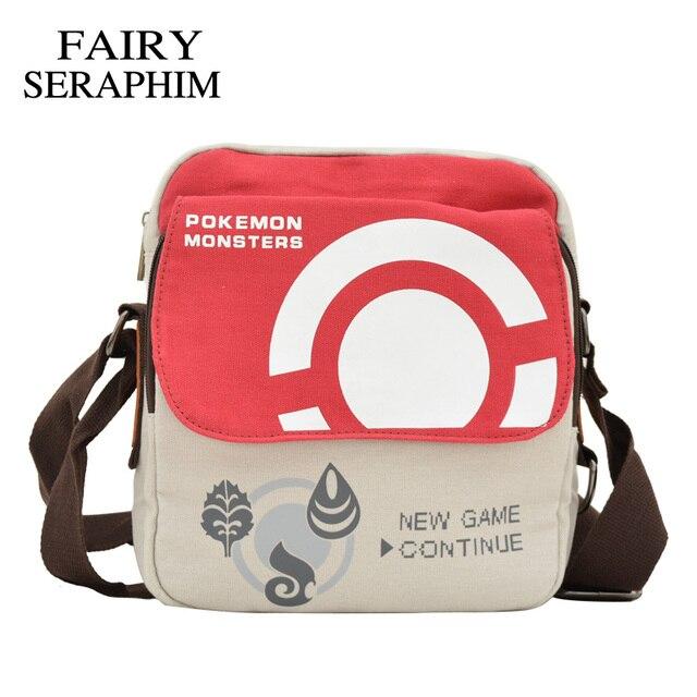 ca414d7e50d3 FAIRY SERAPHIM anime Pokemon Messenger Bag Cartoon Character crossbody  style Boys Girls Schoolbags Children Bookbag monster Bags