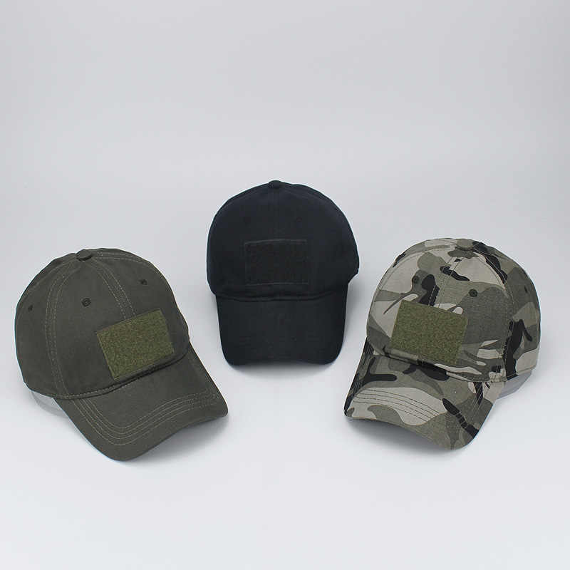 Camo Military Cap con Patch Uomini Caccia Esterna Tappi di Pesca Camouflage Jungle Cappello Airsoft Tactical Escursionismo Browning Casquette