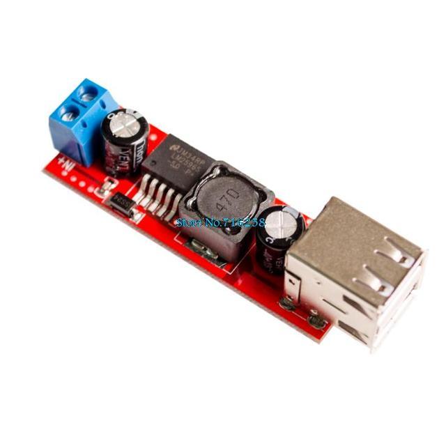 DC 6 v-40 v Om 5 v 3A Dubbele USB Charge DC-DC Step-down Converter Module Voor voertuig Charger LM2596 Dual USB