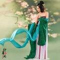 Verde sexy Traje Nuevo Diseño de Baile chino Tradicional Hanfu Ropa Traje de Princesa De Hadas Ropa puesta en Escena