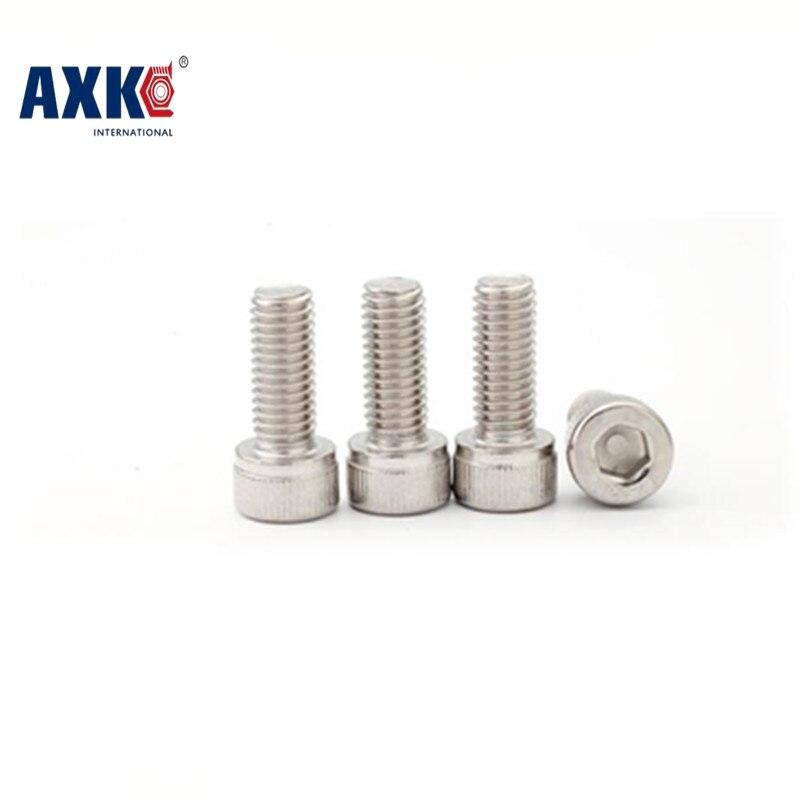 Axk Metric Thread Din912 M4 Stainless Steel Hex Socket Head Cap Screw Bolts M4*4/5/6/8/10/12/14/16/18/20/22/25/30/35/40/45/50 axk 100pcs gb819 m4 304 stainless steel metric thread flat head cross countersunk head screw m4 6 8 10 12 14 16 18 20 25 80 mm