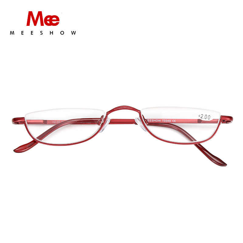 ab9a87930a56 MEESHOW 2pc half Rim Reading Glasses High Quality METAL eyeglasses  1.25