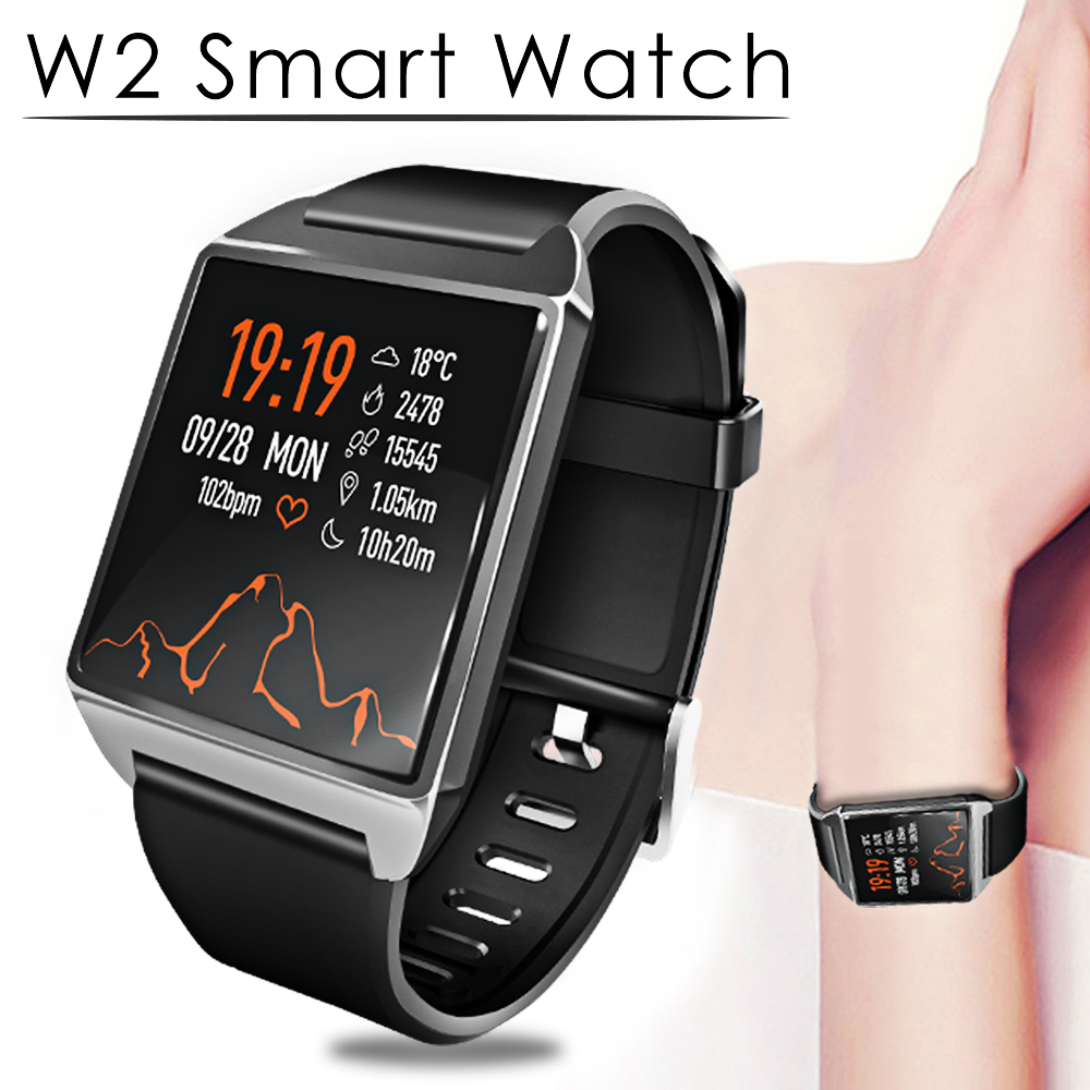 Timethinker W2 Smart Watch Bracelet Fitness Tracker Music Control Smartwatch AGPS Pedometer Blood Pressure Heart Rate Monitor image