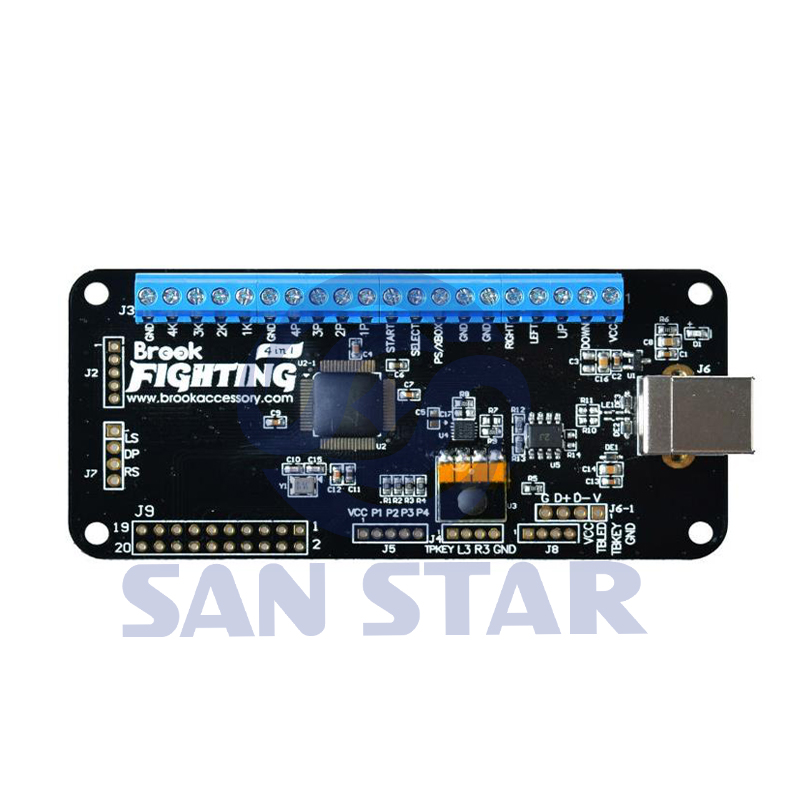 US $86 4  Original 4 in 1 Brook UNIVERSAL FIGHTING BOARD PCB supports Xbox  One, Xbox 360, PS4, PS3, Wii U, PC and Switch-in Coin Operated Games from