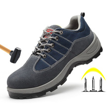 Steel Toe Anti-smashing Safety Shoes Men Work Boots Breathable Work Safety Shoes Man Puncture Proof Construction Safety Boots 2018 women work safety shoes steel toe puncture proof safety work boots for women pink safety toe casual outdoor work shoes