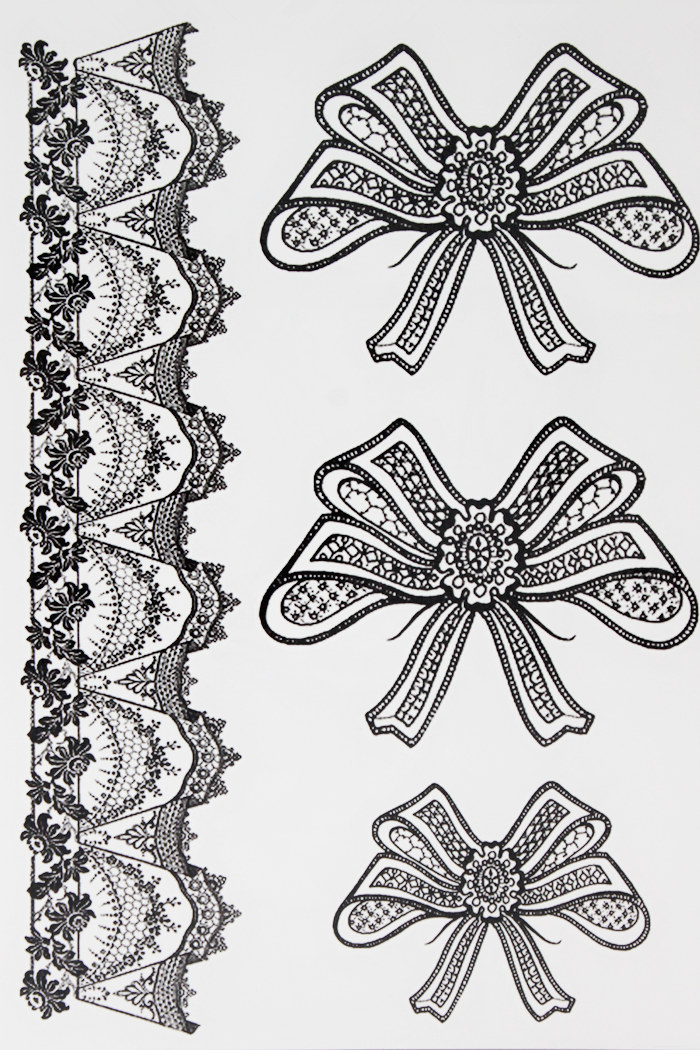 Leg Ribbon Beauty Bow Tattoo 21 X 15 CM Sized Sexy Cool Beauty Tattoo Waterproof Hot Temporary Tattoo Stickers