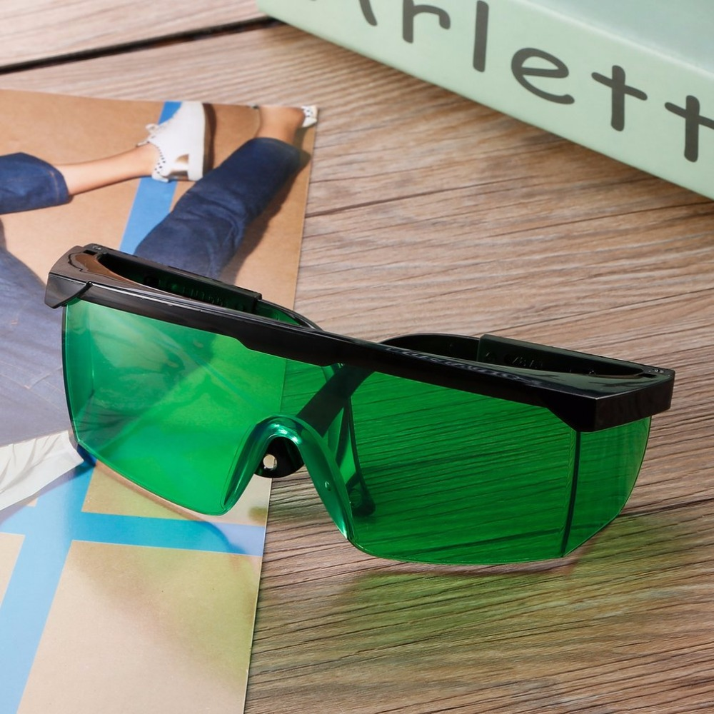 Laser Safety Glasses For Violet//Blue 200-450//800-2000nm Absorption Round Protective Goggles Laser Protective Glasses Goggles Black Frame And Green Lens