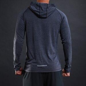 Image 4 - FLORATA NEW Trendy Autumn Men T Shirt Casual Long Sleeve Slim Mens Basic Tops Tees Stretch T shirt Comfortable Hooded T Shirt