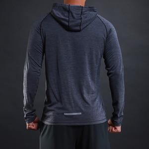Image 4 - FLORATA 새로운 트렌디 한 가을 남성 T 셔츠 캐주얼 긴 소매 슬림 남성 기본 탑스 티셔츠 스트레치 티셔츠 편안한 후드 티셔츠