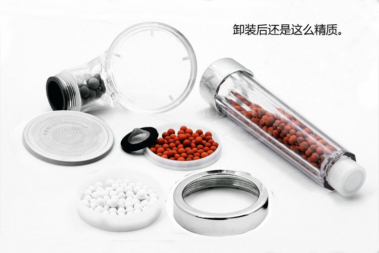 wholesale hand massaging shower head top abs lon shower head water filter removes chlorine toxins ion spa shower head bathroomin bathtub faucets from home