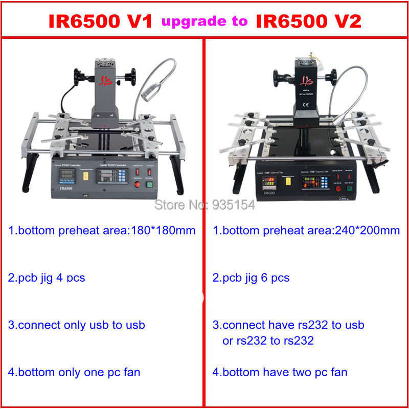 IR6500 V.2 Infrared BGA Rework Station bga machine with bigger preheat area 240*200mm USB port tax free to Russia new arrival original nike breathable zoom winflo 3 men s running shoes sneakers trainers